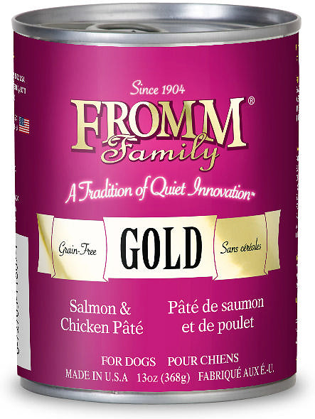 Fromm Gold Salmon & Chicken Pate Canned Dog Food