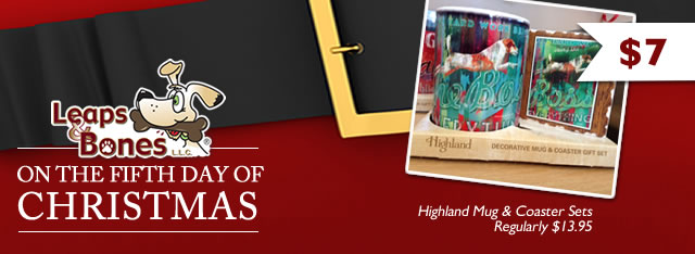 $7 Highland Mug & Coaster Sets | Leaps & Bones
