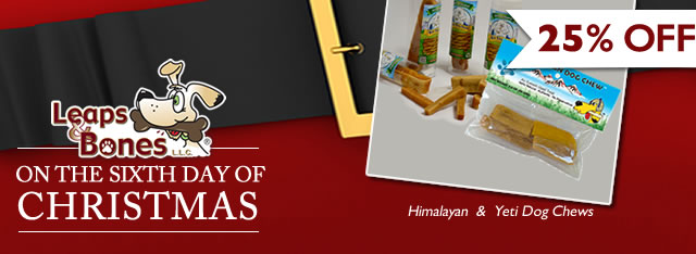 Sixth Day of Christmas: 25%OFF Himalayan and Yeti Chews