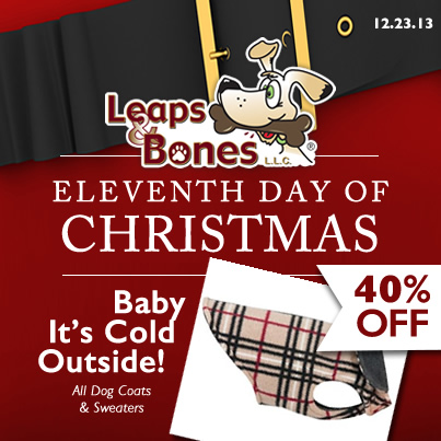 Eleventh Day of Christmas: 40% OFF Dog Coats and Sweaters