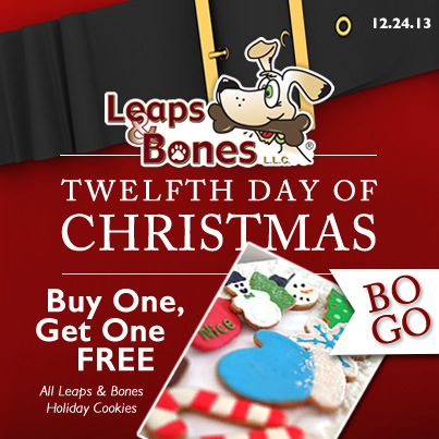 Leaps & Bones Buy One Get One FREE Holiday Biscuits