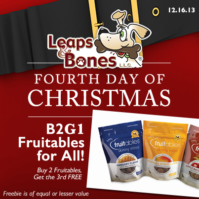 Fourth Day of Christmas : B2G1 Fruitables!