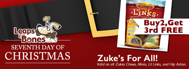 On The Seventh Day of Christmas: Buy 2 Zuke's Get the 3rd FREE