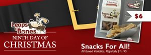 On The Ninth Day of Christmas: 6$ Leaps Boxed Biscuits