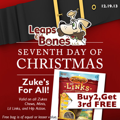 7th Day of Christmas: Zuke's Buy 2, Get 3rd FREE